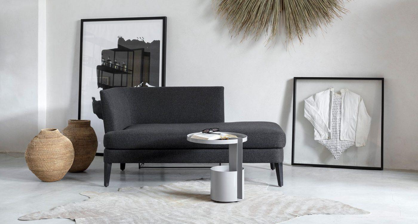 ספה מעוצבת בהתאמה אישית צבע שחור