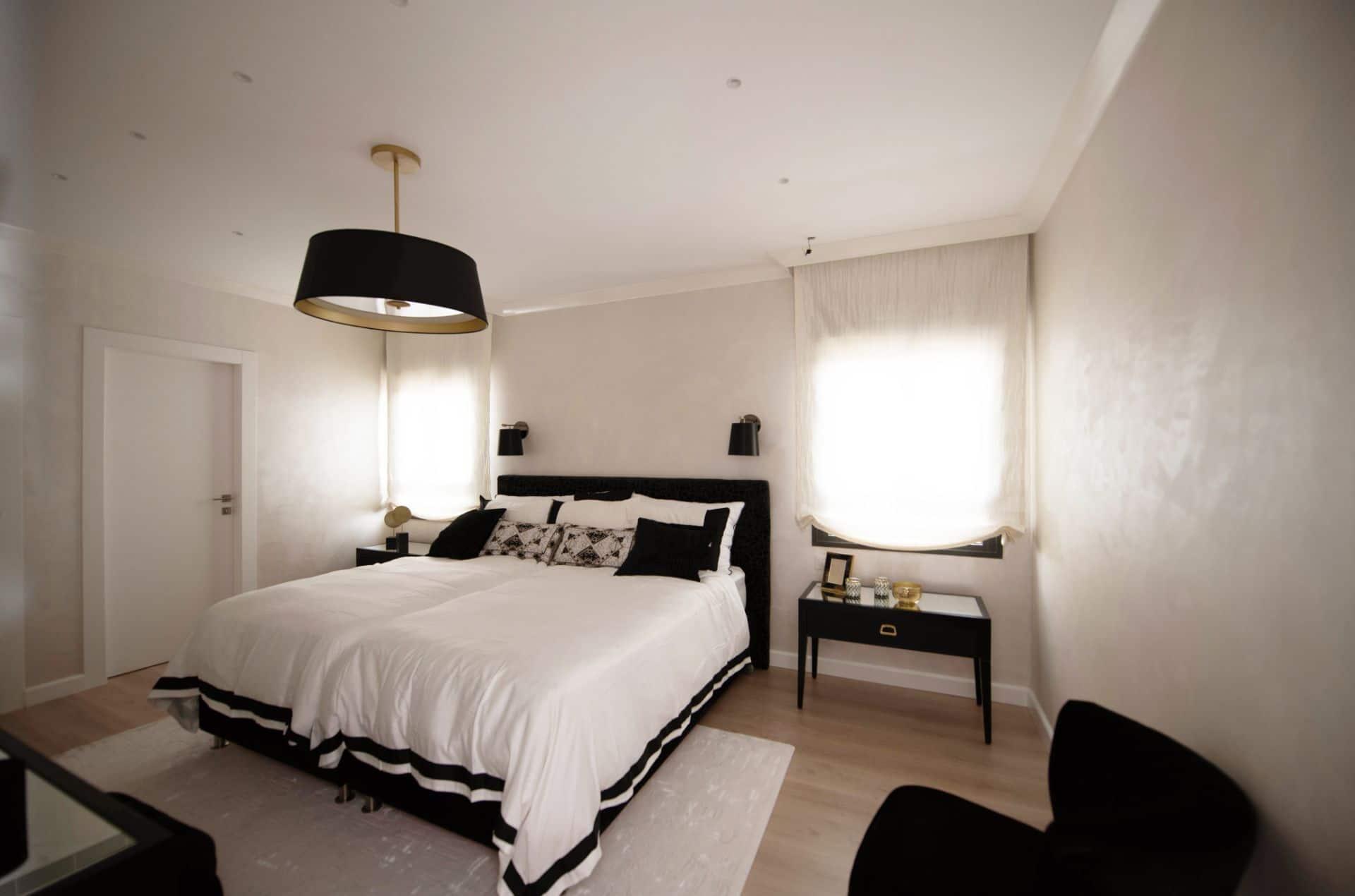 חדר שינה יוקרתי מעוצב בהתאמה אישית